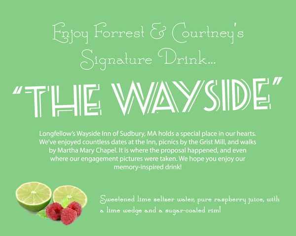 signature drink sign for wedding
