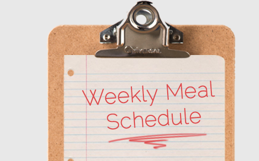 weekly meal schedule