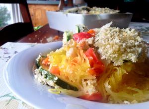 Spaghetti Squash and Veggie Casserole