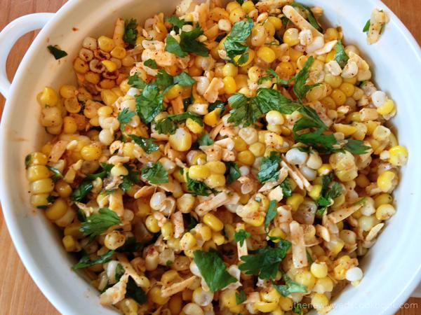 zesty corn salad with grilled chicken