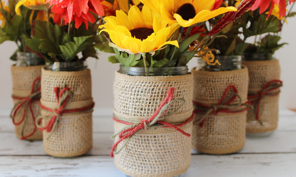DIY Fall Flower Jars