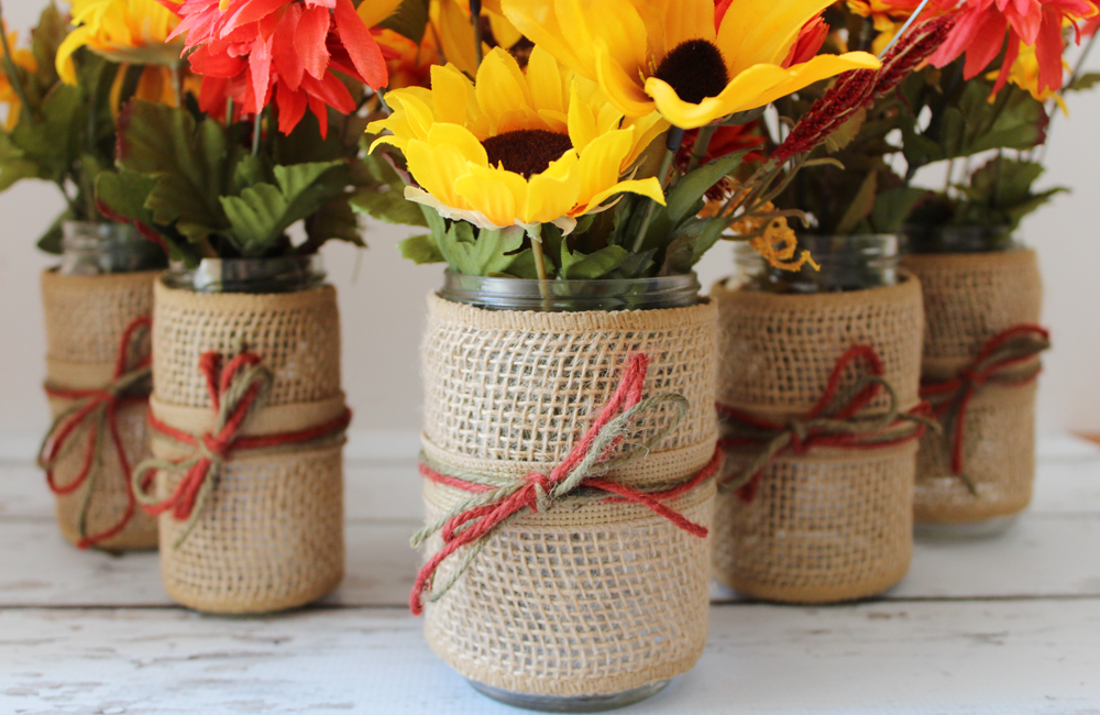 DIY Fall Flower Jars