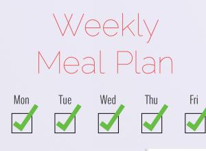 Weekly Meal Plan 5/16