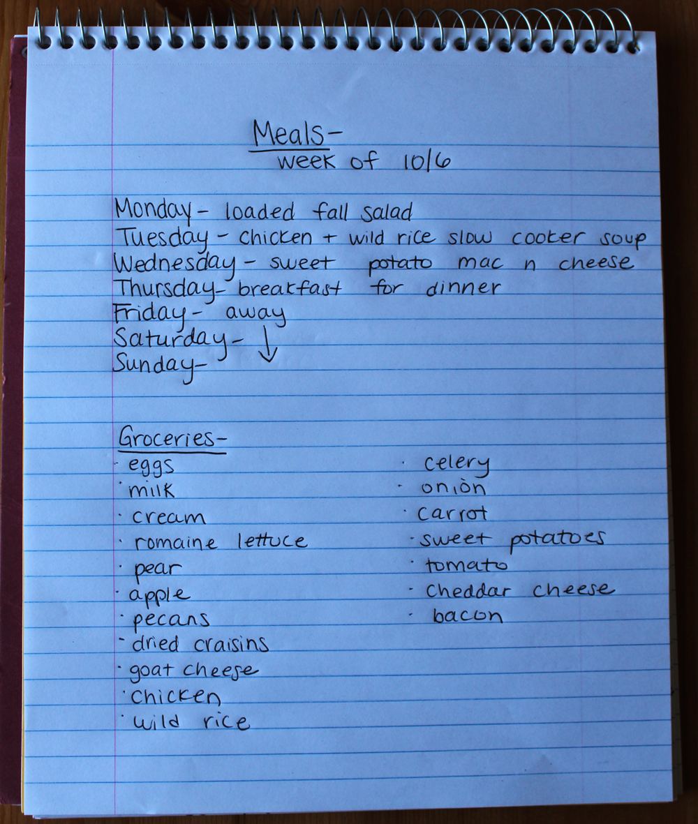 weekly meal plan 10-5