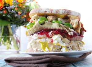 Giant Thanksgiving Leftovers Sandwich