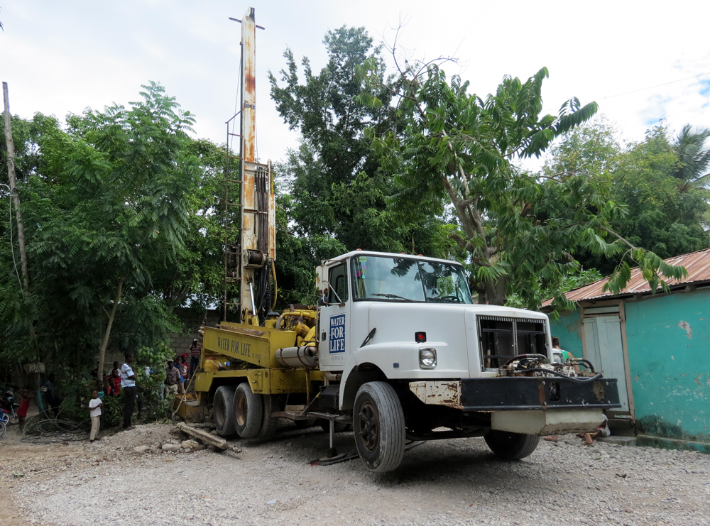 well drilling in haiti