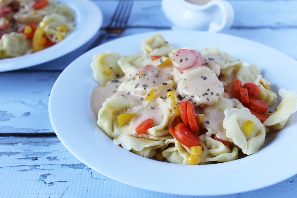 creamy veggie tortellini