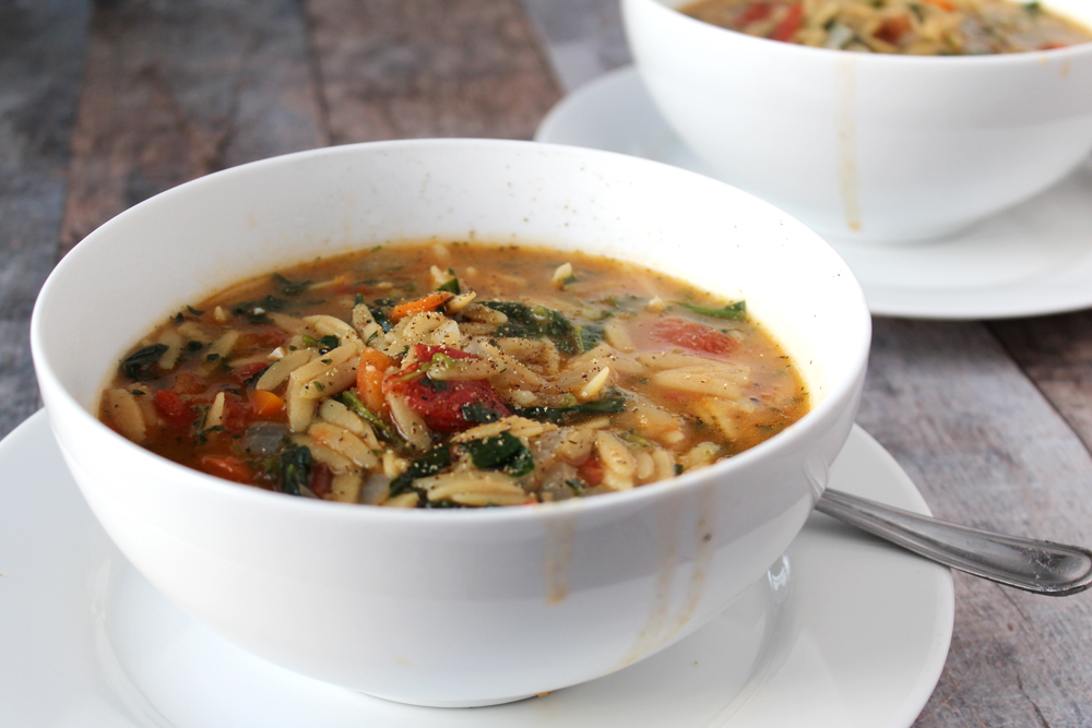 Veggie Orzo Soup