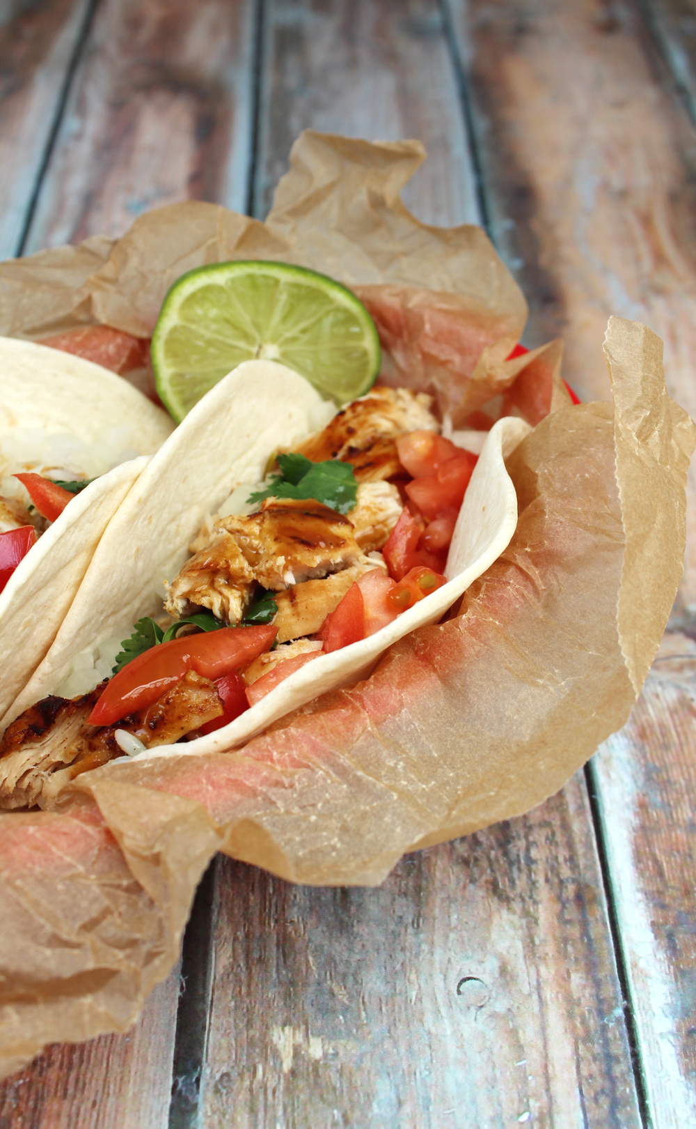garlic lime chicken tacos