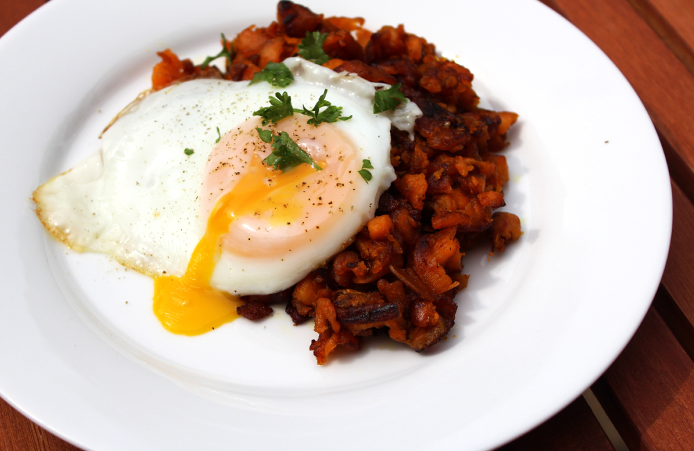 Sweet Potato Bacon Breakfast Hash