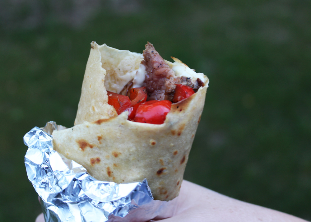 steak and cheese loaded crepe