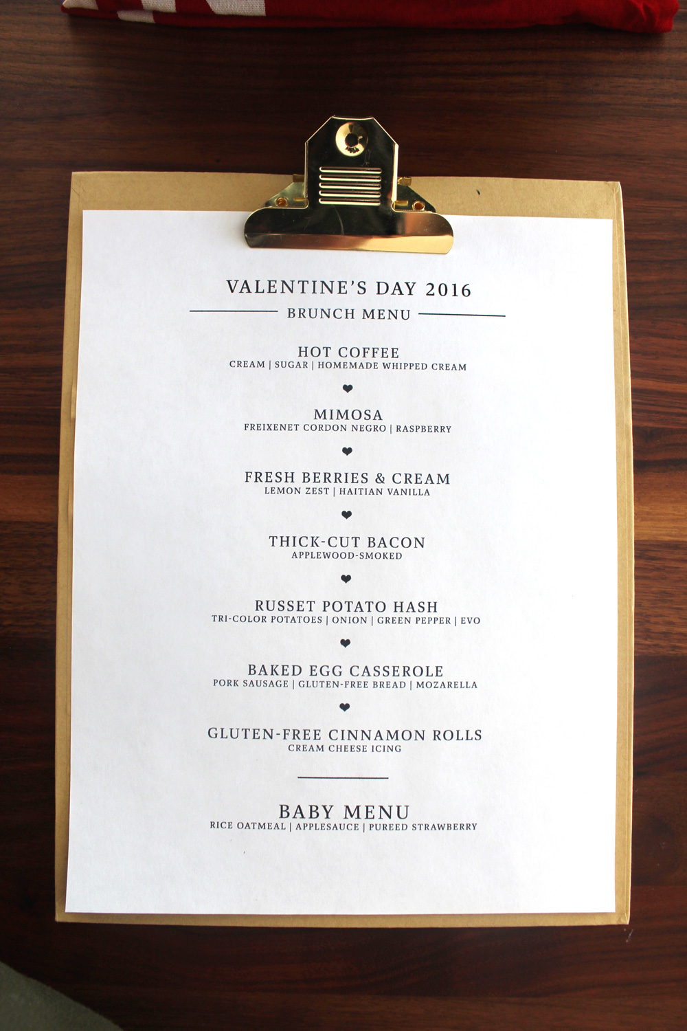 valentines brunch