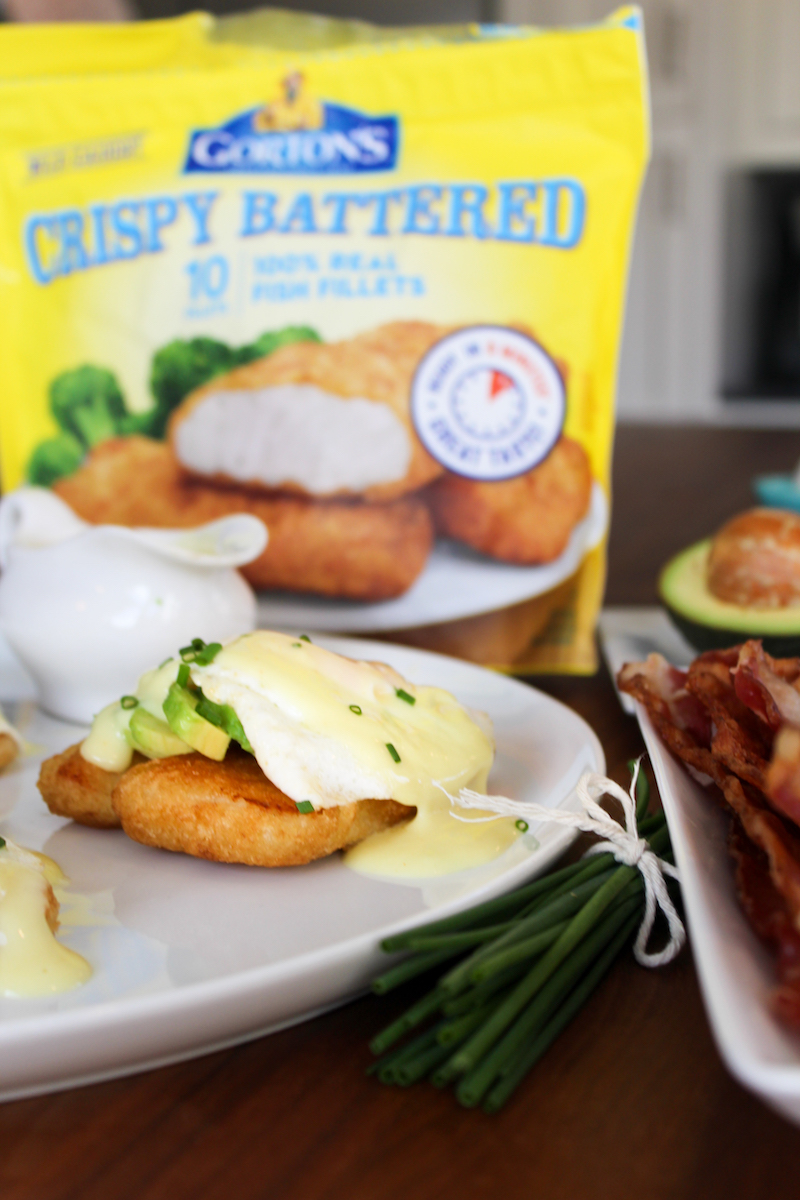 Gorton's Battered Fish Fillet Eggs Benedict